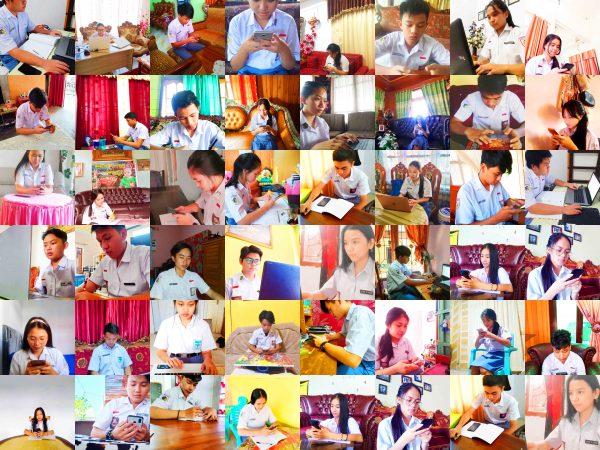Para Siswa SMA Sedang Melaksanakan Ujian Online